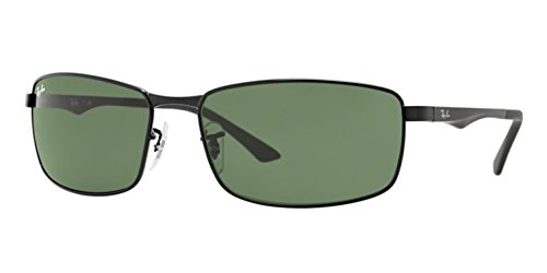 Ray-Ban Sunglasses - RB3498 / Frame- Black Lens- Green, 61 mm (Ray Ban Sonnenbrillen Der Stars)