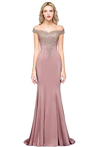 Gold Lace Applique Mother of The Bride Dress Wedding Guest Dress Dusty Pink 14