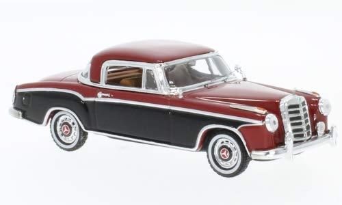 (Mercedes 220 SE Coupe, Dark red/Black, 1958, Model Car,, Vitesse 1:43)