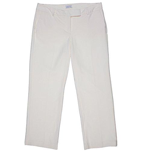 Charter Club Women's Plus Tummy Slimming Straight Leg Pants Vanilla Bean (24w) by Charter Club