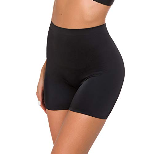 Shapewear Boyshorts for Women Seamless Tummy Control Shaping Panties Thigh Slimming Shorts (Black, - Control Boyshort