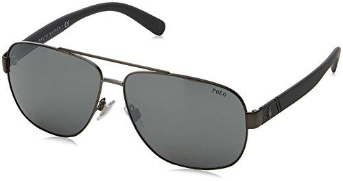 Polo Ralph Lauren Men's 0ph3110 Non-Polarized Iridium Aviator Sunglasses, demishiny dark gunmetal, 60.0 mm (Sunglasses For Polo)
