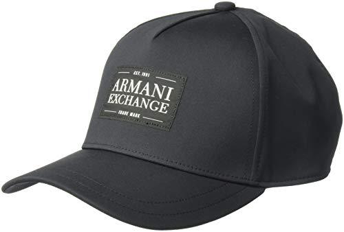 Armani Exchange Men's Patch Logo Hat, nero/black, UNI (Caps Armani Exchange Black)