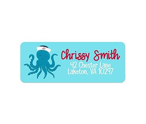 Amazon com: Octopus Address Labels - Boys Address Labels
