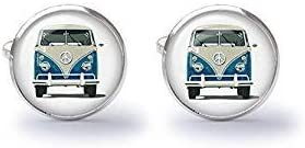 Vanagon Westi Pop Art Surf Bus Cufflinks Pair VW Bus -