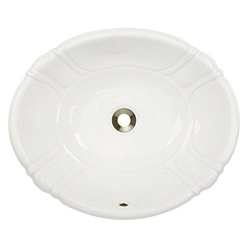 Oval Vessel Lavatory Sink (O1815-B Bisque Porcelain Vessel / Drop-In Lavatory Sink)