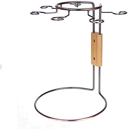 ゴブレットホルダー 6フックブロンズクローム鉄ワイングラスホルダースタンド脚付きグラス乾燥ラックワインデカンター乾燥ラック保存スペース用ホームバーホテル ワイングラスホルダー (Color : Bronze, Size : 27.5*25.5CM)