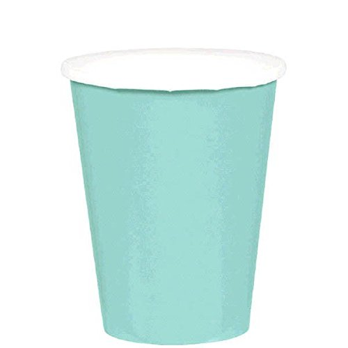 Party Perfect Disposable Paper Cups Tableware, 20 Pieces, Made from Paper, Robin s-egg Blue, 9 oz by Amscan