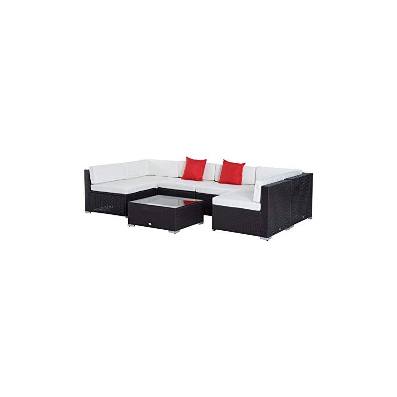 Household Essentials ML-6688 Entryway Cushioned Wicker Storage Bench with Storage Bins
