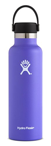 Hydro Flask 24 oz Double Wall Vacuum Insulated Stainless Steel Leak Proof Sports Water Bottle, Standard Mouth with BPA Free Flex Cap, Plum