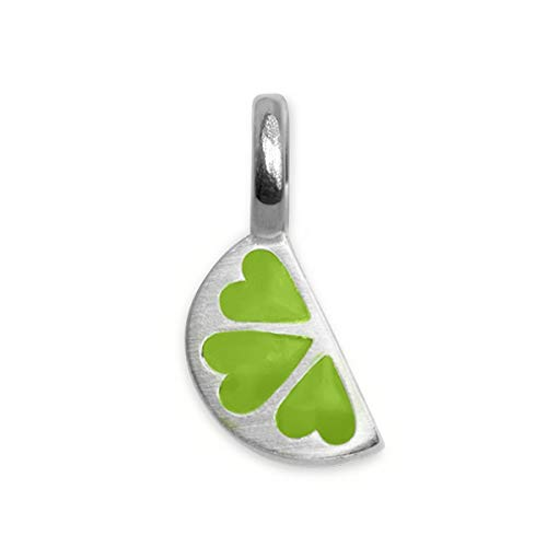 Alex Woo Sterling Silver Mini Addition Lime Charm, Green, 0