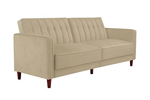 ivana vintage tufted upholestered futon