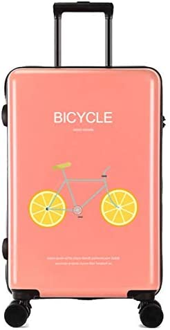 Tjtz 24 inch Trolley case Unisex Suitcase Universal Wheel Luggage Suitcase Color : Pink