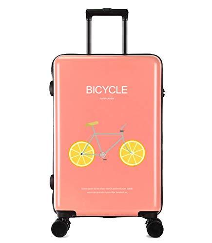 24インチ新しいファッショントロリーケースユニセックススーツケースユニバーサルホイール荷物スーツケース (Color : ピンク) B07MQQSGRW