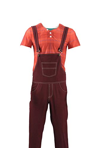 (Ralph Breaks The Internet Wreck-It Ralph Top Pants Halloween Cosplay Costume (Customized, Brown)