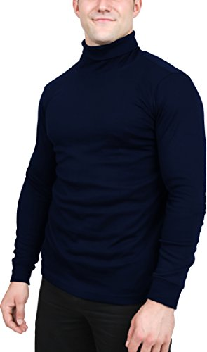 Utopia Wear Men's Turtleneck Shirt, Large (Na...