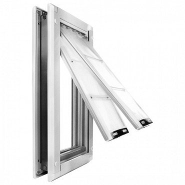 "Endura Flap Medium Door Mount - White Double Flap 8"" x 14"" pet door from Endura Flap"