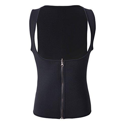 CERSLIMO Neoprene Sweat Vest for Women with Zipper Sauna Vest for Women Weight Loss Waist Trainer Vest for Tummy Shaper