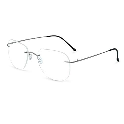 OCCI CHIARI Titanium Rimless Glasses Frame RX Eyewear Men Eyeglasses Hinge -
