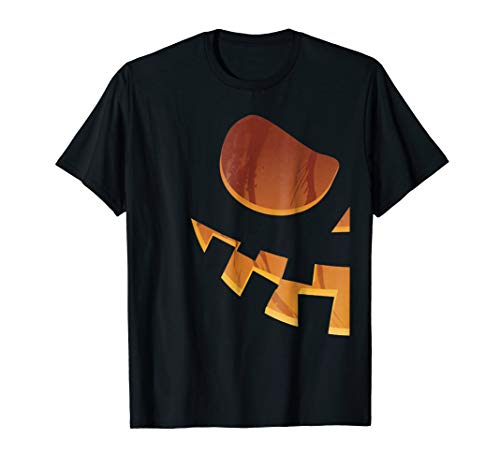 Half Pumpkin Jackolantern Couples Halloween Costume Shirt #3