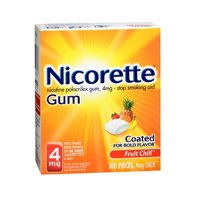 Nicorette Gum 4 mg Fruit Chill - 100 ct, Pack of 3
