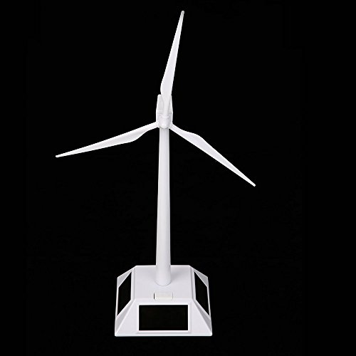 TATEELY DIY Solar Windmill Model Wind Turbine Toys Plastic Assembled 3D Puzzle Assembling Solar Powered Windmill Gift for Kids Home Decor by TATEELY