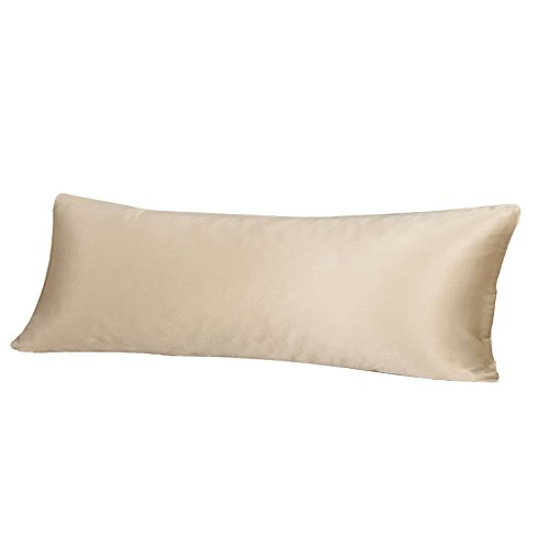 Satin Pillowcase Allergies: THXSILK 19 Momme Mulberry Silk Body Pillow Cover