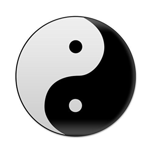 2X Sticker Set - Yin Yang Peace Symbol - for Phone Grip Stent Cell Phones Tablets (Stickers Only)