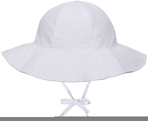 SimpliKids UPF 50+ UV Ray Sun Protection Wide Brim Baby Sun Hat,White,12-24 Months