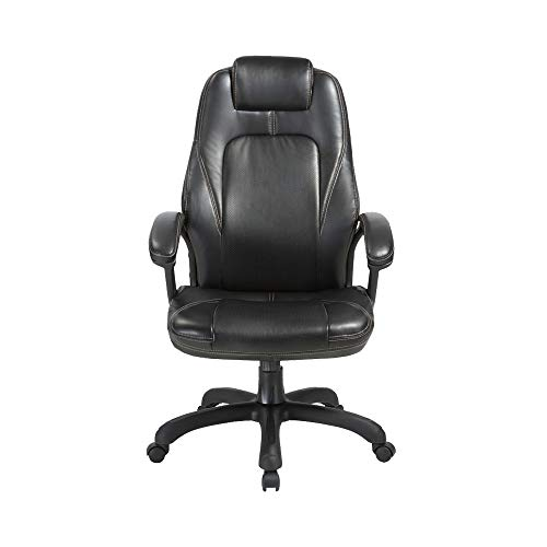 Office Chair, High-Back Office Chair Abakoo Tilt Function Ergonomic Executive Chair, Swivel Comfortable Rolling Chair with Arms and Wheels, Headrest and Lumbar Support, PU Leather Black, BIFMA CERT