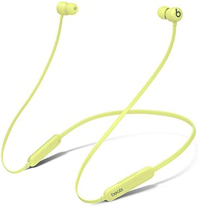 Beats Flex Wireless Earphones – Apple W1 Headphone Chip, Magnetic Earbuds, Class 1 Bluetooth, 12 Hours of Listening Time - Yellow (Latest Model)