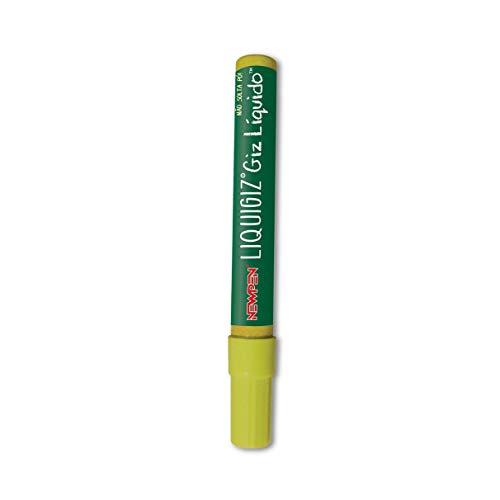 Giz Liquido Liquigiz Newpen Com 6 Unidades - Amarelo Fluo