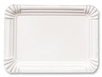 1500 Pappteller 13x20 cm Kuchenteller weiß