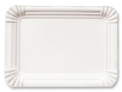 250 Pappteller weiß 18x26cm der-verpackungs-profi GmbH