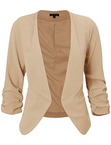 (Michel Womens Open Front Draped Asymmetric Work Blazer Jacket Small)