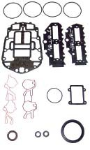 OMC / JOHNSON / EVINRUDE 90 HP 1995-2000 , 115 HP 1995-2000 Complete Power Head Gasket Kit V4 60 Degree Eagle Series Carbureted WSM 500-133 OEM# 437779 ()