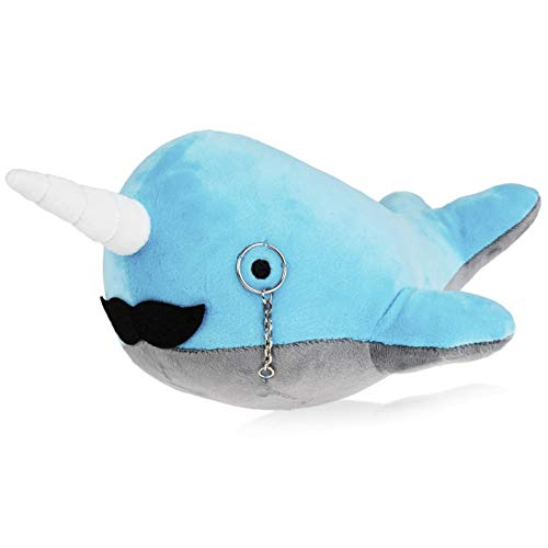Fancy Friends Narwhal Stuffed Animal: Unique Fancy Toy Narwhal Plush with Mustache & Monocle is Perfect for Children or Adults | Perfect Party Gift or Bedtime Friend for Boys & Girls | 14 Inches -