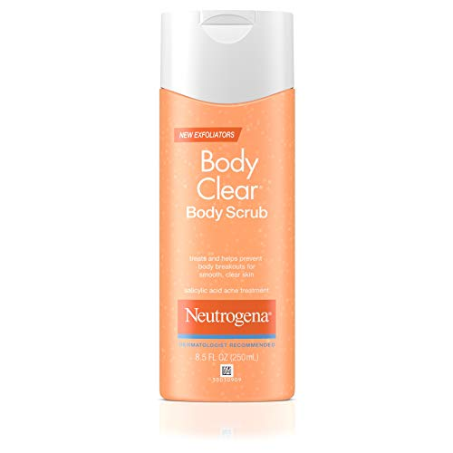 Neutrogena Body Clear Oil Free Acne Body Scrub with Salicylic Acid Acne Treatment Medicine, Exfoliating Salicylic Acid Body Wash to Treat Acne on Back, Chest, and Shoulders, 8.5 fl. ()