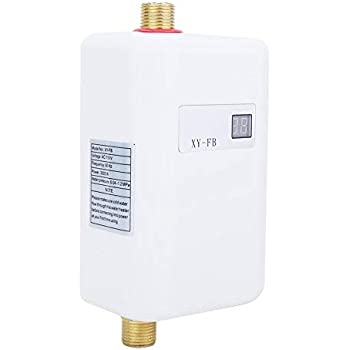 3000W Water Heater Electric Tankless Instant Hot Water Heating Shower Hot Water System for Bathroom Kitchen Washing Bathroom Kitchen Tool(US Plug)