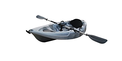 BKC UH-FK184 9'2' Sit on Top Single Fishing Kayak Seat And Paddle included Grey Camo