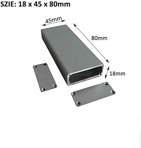 Power Supply Units 18x45x80mm, Black Aluminum Project Box SENRISE DIY Electronic Enclosure Instrument Case for Electronic Projects