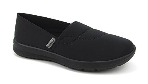 (Women's Cute Memory Foam Nursing Shoes - Printed - Florence Ocean (8, Black))