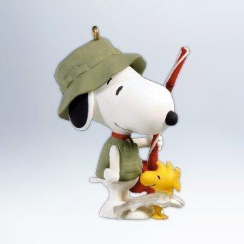 QX8051 Spotlight on Snoopy #15 - Fisherman Snoopy 2012 Hallmark Keepsake Ornament -