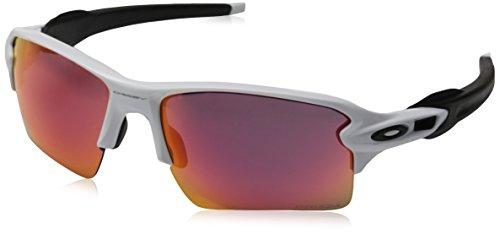 Oakley Men's OO9188 Flak 2.0 XL Rectangular Sunglasses, Polished White/Prizm Field, 59 ()