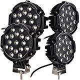 Best Off Road Lights - Oplips 4 x Black 51w Round Led Light Review
