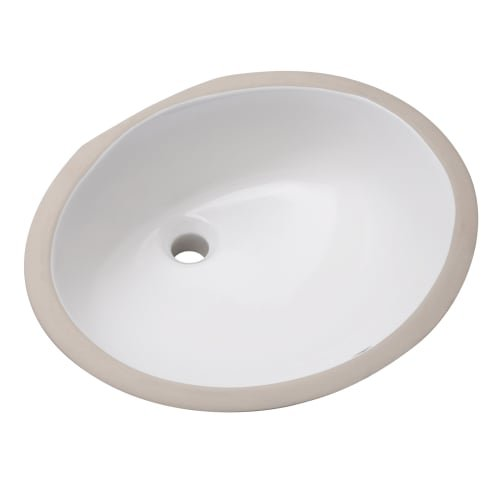 Mirabelle MIRU1714AWH 17'' Porcelain Undermount Bathroom Sink with Overflow by Mirabelle