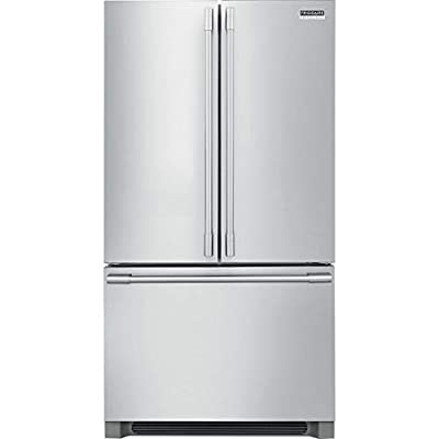 Frigidaire/FPBG2278UF 22.3 CF French Door Counter-Depth Refrig, LED, IceMaker, Alarm Sys, Smudge Proof Stainless Steel