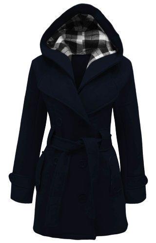 ceinture NEUF militaire femmes tailles polaire veste avec manteau haut Marine Bleu 8 capuche Apparel 26 femmes Amber fashion pour WAqnw4Y5t6
