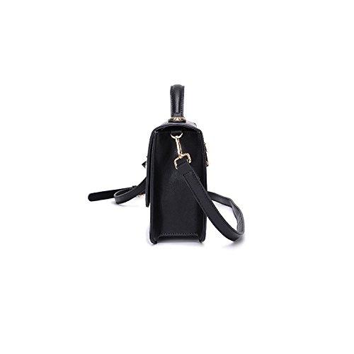 Coreana Pu Versione Black In Moda Rivetti Messenger E Autunno Inverno Pelle Tracolla YSfHFW