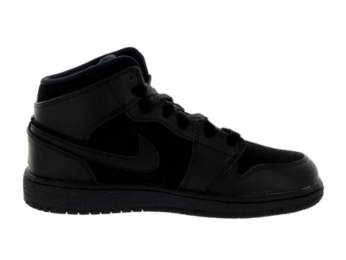 Nike Air Jordan 1 Mid BG Black Black Kids Trainers